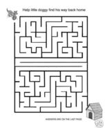 MAZES Coloring eBook 54 Printable Pages-GREAT FUN - $1.49
