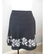 Villager Polka Dot And Floral Skirt Size 14 New - $19.00
