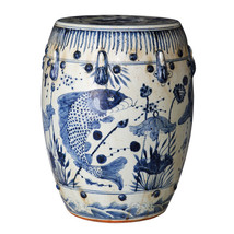Beautiful Vintage Style Blue and White Porcelai... - $247.49