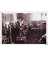 Vintage Photo Old Lady with Feet Up in Living R... - $6.00