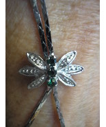 Designer Silver Necklace  look of dragonfly Rhi... - $20.00