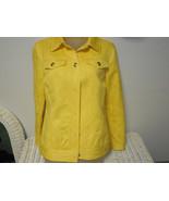 Laura Ashley yellow denim jacket size S - $19.80