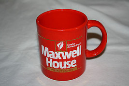 RED Maxwell House Instant Coffee Cup Mug Englan... - $11.87