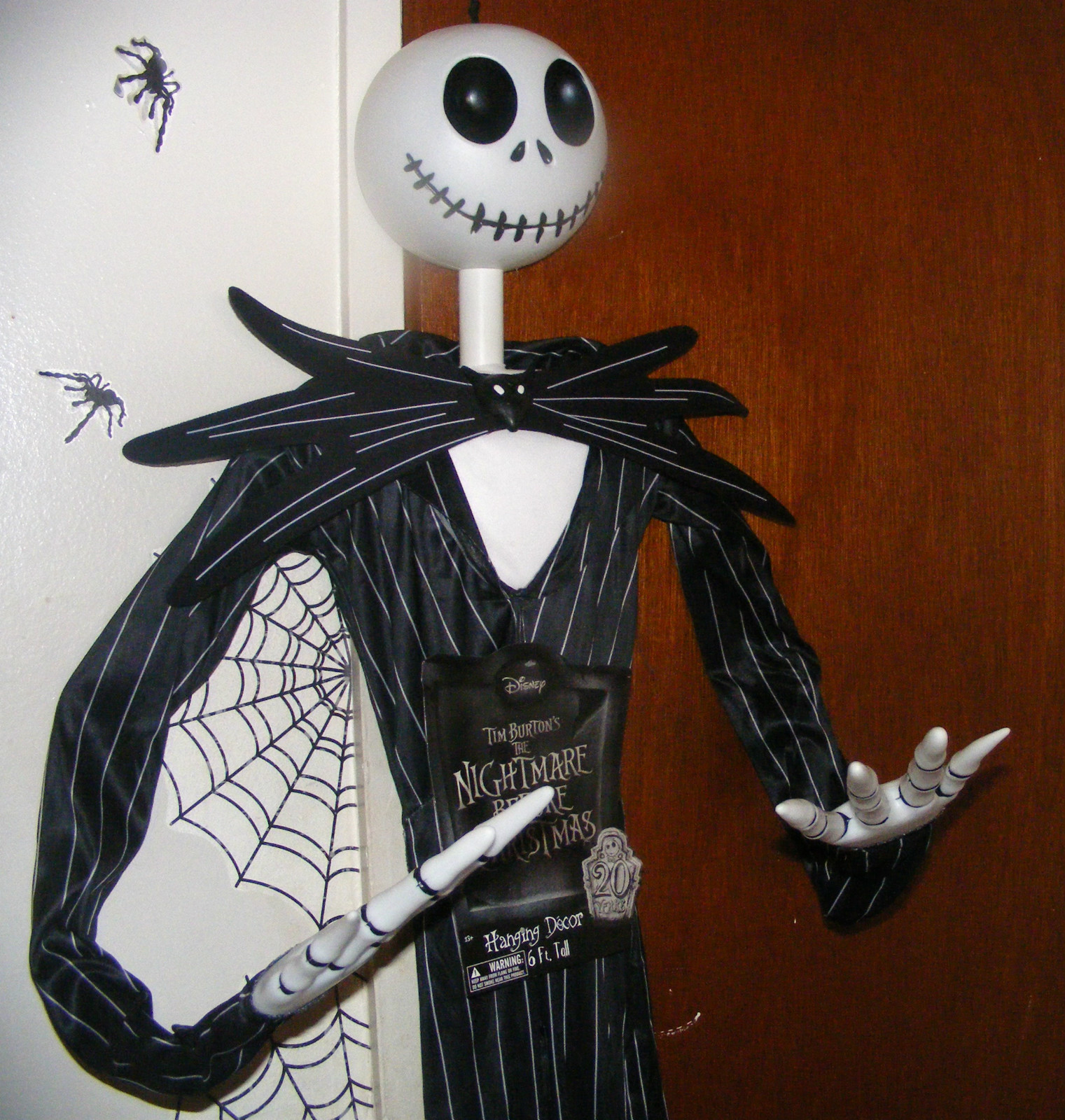 6ft jack skellington nightmare before christmas posable - Jack skellington decorations halloween ...