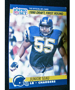 Junior Seau Chargers Pro Set 1990 Rookie Card S... - $15.00