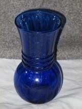 New Vintage Cobalt Blue Swirl Vase #31495 Hand ... - $14.84