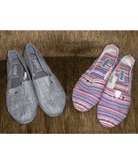 Mad Love Shoes Size 6 Womans Multi Color Stripe... - $19.97