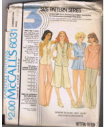 McCall's 6031 Misses Blouse, Vest, Skirt, Pants... - $6.00