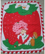 Vintage Strawberry Shortcake Baby Quilt Blanket... - $49.99