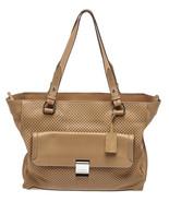 Escada Sport Tan Perforated Leather Tote Handbag - $195.00