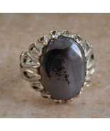 Silver agate aqeeq Men Ring-Middle Eastern-yeme... - $68.31