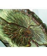 Pansy Plate, Gold, 13 1/2 inches, Hand Made in ... - $32.50