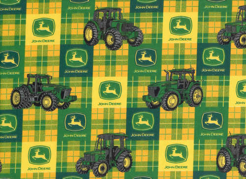 John Deere Fabric : John deere tractor fabric cotton quilting farm quilt bty