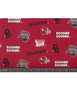 OU Boomer Sooner Fabric, Oklahoma University co... - $10.98