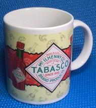 Vtg TABASCO Sauce Logo Coffee Tea 10 oz Mug Cer... - $7.69