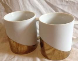 2 STARBUCKS Coffee Mug Cup 2012 Matte White and... - $26.71