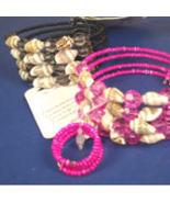 Shell and bead bracelet  (BLACK) - $4.25