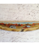 Hand Painted Mini Crosscut Saw Fall Homestead M... - $18.75