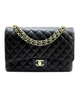CHANEL Black CAVIAR Quilted Leather Classic XL ... - $5,129.00