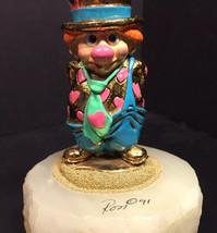 Ron Lee Clown Figurine- Clown Hiding Heart 1989... - $15.00