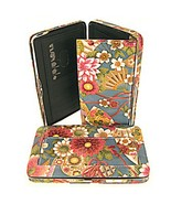 FUN ASIAN FLORAL THICK FLAT WALLET CLUTCH PURSE - $17.81