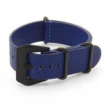 DASSARI Concrete Blue Italian Leather NATO Zulu... - $34.99