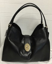 Coach Smooth Leather Carlyle Shoulder Bag Black... - $158.39