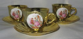 Vintage Gold Cup  & With French?  Scene & Gold ... - $9.99