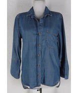 CLOTH & STONE Anthropologie Denim Blue Shirt XS... - $42.99
