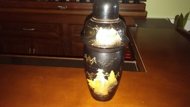 Japanese cocktail shaker--black lacquer wood, h... - $60.00