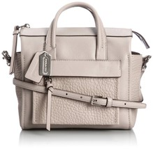 Coach BLEECKER MINI RILEY CARRYALL IN LEATHER - $262.34