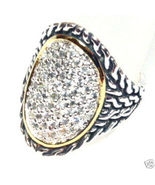 WR101 Sz 6 -  Celebrity Style Sterling Silver C... - $34.99