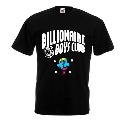 Hot Tee Billonaire Boys Club BBC Ice Cream Black T-Shirt Size S M L XL 2XL
