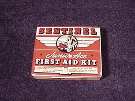 1940's Sentinel Junior Ace First Aid Kit Tin Ca... - $7.95
