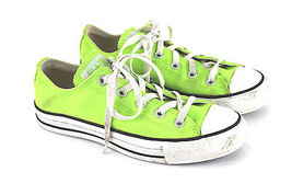 CONVERSE ALL STAR LIME GREEN NEON SHOES WOMEN'S... - $24.99