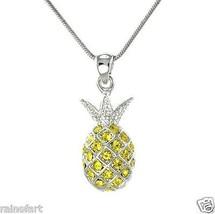 Pineapple W Swarovski Crystal Ananas Tropical F... - $29.00