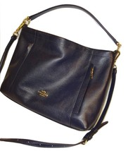 COACH ~ Midnight Navy Blue Leather SCOUT Hobo X... - $122.55