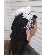 Vtg Bridal Hair Comb Wedding Hairpiece Bride Ha... - $19.99