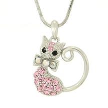 CAT W Swarovski Crystal Pet Lover Kitty Pink Je... - $29.00