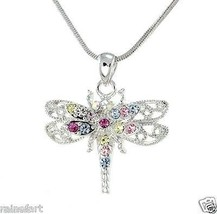 DRAGONFLY W Swarovski Crystal Multi Color Charm... - $27.00