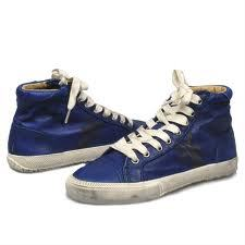 Authentic Frye Kira Sapphire Genuine Leather High Top Sneakers 9.5