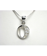 925 Sterling Silver CZ Initial Letter O Charm P... - $7.40
