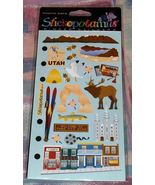 Stickopotamus Binder Stickers Utah Scrapbook Ph... - $2.45