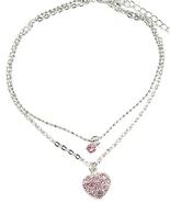Silver Plated Crystal Anklet Ankle Bracelet & T... - $13.97