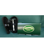 Travel razor in leather travel pouch double edge - $35.00