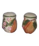 Pear Design Salt Pepper Shaker Set Ceramic Vint... - $12.50