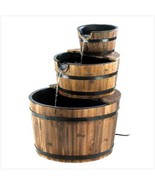Fountain Bushel Basket outdoor style w wood tri... - $99.29