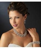 New! White Pearl and Rhinestone Wedding Necklac... - $104.99
