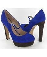 Vince Camuto Jasper Mary Jane Pump Cobalt/Brown Women Sz 8B
