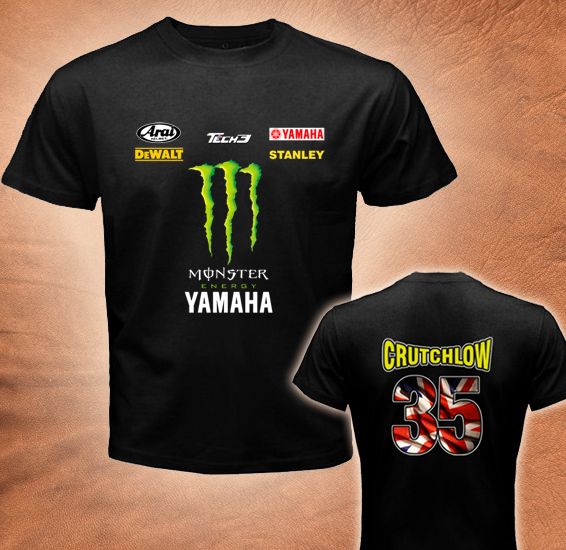 Crutchlow 35 Motogp Racing Yamaha Team Mens Black T Shirt All Size